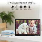"""10/10.1/12/13 """" HD Digital Photo Frame LED Picture MP4/3 Movie Player Remote USA"""
