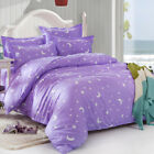 Sky Violet Star Moon Queen King Bed Set Pillowcases Quilt/Duvet Cover tBT
