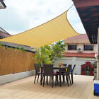 Sun Shade Sail 300D/280GSM Garden Patio Awning Canopy UV Block Waterproof