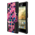 For ZTE Warp Elite Z9518 Dual Layer Hybrid Stand Rubber Hard Case Cover