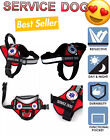 SERVICE DOG VEST NO-PULL HARNESS + REFLECTIVE + ID CARD POCKET + FREE ADA CARDS