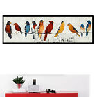 Watercolor Birds Vintage Canvas Poster Art Painting Modern Home Wall Decor