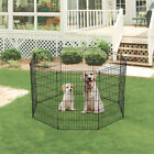 Indoor Outdoor Dog Playpen Cage Kennel Play Pen Fence Crate Exercise Large Small