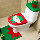 1pcs hot Christmas decorations toilet seat cover three piece sets
