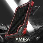 R-JUST Waterproof Carbon Fiber Metal Hybrid Case Cover For iPhone 11 Pro Xs Max