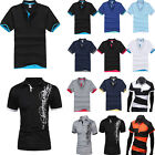 Stylish Mens Summer Casual Polo Shirts T-Shirt Tops Short Sleeve Golf Tee Shirts