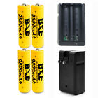 USA 18650 Battery 9800mAh Battery 3.7V Rechargeable Battery Smart Charger SET
