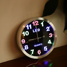 Silent Non-ticking Modern Stylish Quality LED Color Light Quartz Wall Clock