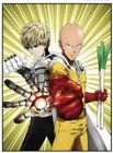 Japanese Anime One Punch Man Poster Group High Grade Glossy Laminated Wall Decor