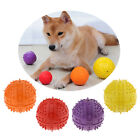 Pet Products Teeth Cleaning Rubber Playing Chewing Squeaky Ball Toy Dia. 9cm