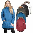 Trespass Clea Womens Waterproof Jacket Ladies Long Rain Coat with Hood