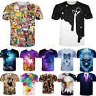 Fashion 3D Print Mens Women Summer Casual T-Shirt Short Sleeve Graphic Tees Tops image