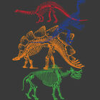 Dinosaur Skeletons T Shirt You Choose Style, Size, Color 10889 image