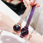 Ladies Watch Starry Sky Diamond Dial Women Bracelet Watches Magnetic Stainless U image