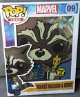 New Marvel Pop Tees Guardians Of The Galaxy Rocket Raccoon & Groot #09 L