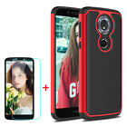 For Motorola Moto G6 Play /Forge Shockproof Hybrid Case Cover + Screen Protector