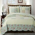 Annabel Luxury Quilted Coverlets 3 Piece Floral Sweet Home Quilt Set  image