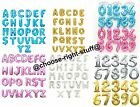 """Gold, Silver, Blue & Pink 16"""" Alphabet Letter Number Foil Balloons name party"""
