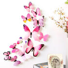 12Pcs 3D Butterfly Wall Stickers Art Decal Home Room Romantic Love Decoration UK