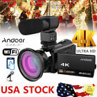 ANDOER 4K 48MP WIFI 16X ZOOM NIGHT SIGHT DIGITAL VIDEO CAMERA CAMCORDER DVR N7Q3