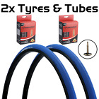 Vandorm 700 x 23c SPEED 3 Colour Road Bike Fixie Tyres & Tube DEAL OPTIONS <br/> 🚴 Black, White, Blue and Red. Single tyre or Pairs  🚴