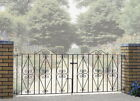 Stira Scroll Driveway Gates 7ft to 12ft GAP x 914mm H wrought iron metal gate