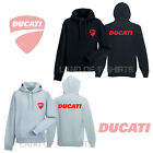 Ducati Cycle Logo Hoodie Emblem Moto Black Gray Cotton Mens Hood All Sizes S XXL