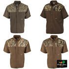 DRAKE WATERFOWL SYSTEMS EST TWO-TONE CAMO WINGSHOOTER'S SHIRT SHORT SLEEVE