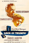 Arch Of Triumph - 1948 - Movie Poster $14.99 USD on eBay