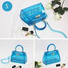 Jelly Bag Tote Casual Handbag Messenger Bag Women Transparent PVC Clear Alphabet