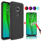 For Motorola Moto G7 Power/Play Shockproof Phone Case + Glass Screen Protector