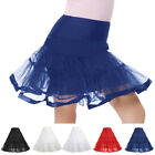 PROM 2-15yrs Girls 2-Layers Tulle Bridal/Wedding Underskirt Underdress Petticoat