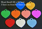 Aluminium HEART Pet ID Tag With Personalised Engraving, Dog, Cat, Collar Tags!