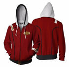 Star Trek The Wrath of Khan Jacket Adult Zipper Hoodie Halloween Cosplay Costume on eBay
