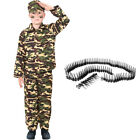 BOYS ARMY FANCY DRESS OUTFIT SOLDIER COSTUME CHILDS MILITARY UNIFORM NEW
