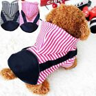 Pet Coat Hoodie Stripe Sweater Dog Cat Warm Costume Apparel Cartoon Outerwear