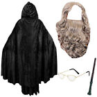 WIZARD COSTUME SET TV FILM CHARACTER FANCY DRESS TEACHER WORLD BOOK DAY OUTFIT