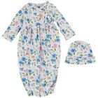 Mud Pie E9 Baby Girl Floral Take-Me-Home Gown  Hat 2pc Set 11060054 Choose