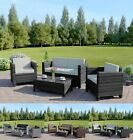 4 Piece Rattan Wicker Weave Garden Furniture Conservatory Sofa Set