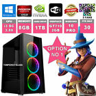 Fast Quad Core Gaming Pc + Monitor 8gb Ram 1tb Hdd Desktop Computer 2gb Gt1050