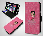 Betty Boop Kiss Think Pink Sexy Retro Hearts New Leather Wallet Phone Case Cover £10.99 GBP on eBay