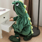 Kids Boys Girls Animal Cosplay Costume Hooded Romper Jumpsuit Kigurumi Sleepwear