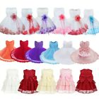 Baby Girls Flower Petals Tulle Formal Bridesmaid Dress Wedding Party Lace Gown