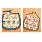 Apron Women's Apron Half Floral Apron For Ladies Vintage Retro Apron Waist