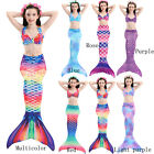 Kids Girl Mermaid Tail Bikini Swimmable Tail Swimming Swimwear Swim Costume