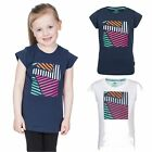 Trespass Linnea Girls Kids Short Sleeve Cotton Blended T-Shirt Top With Print