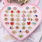 5/3 PCS Cute Jewelry Plastic Kids Rings for Girls Mixed Resin Cabochons Crystal