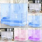 4 Corner Post Bed Canopy Mosquito Net Twin Full Queen Small King Netting Bedding image