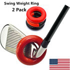 Golf Swing Weight Ring Warm-Up Donut For Training & Practicing 2 Pack US Stock
