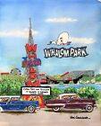 Whalom Park Watercolor Art Print Amusement Lunenburg MA Carnival Lake Gift Decor